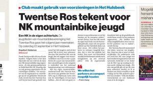 Twentse Ros tekent voor het NK mountainbike jeugd | Oldenzaal | MTB_HTR | Het Twentse Ros | Zwiep Fietsen